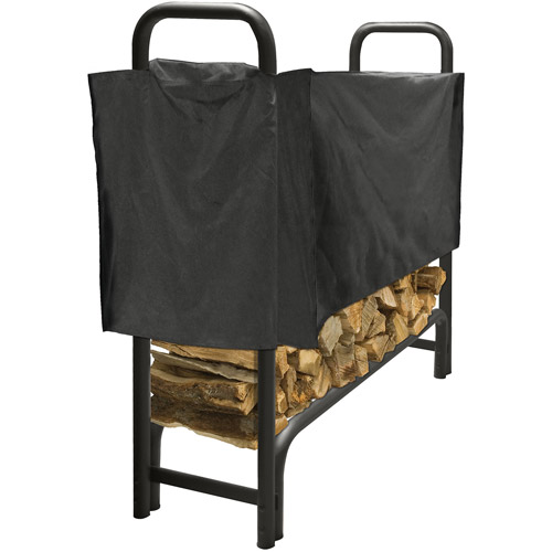 4 FT Heavy Duty Log Rack with Half Cover by GHP Group, Inc.