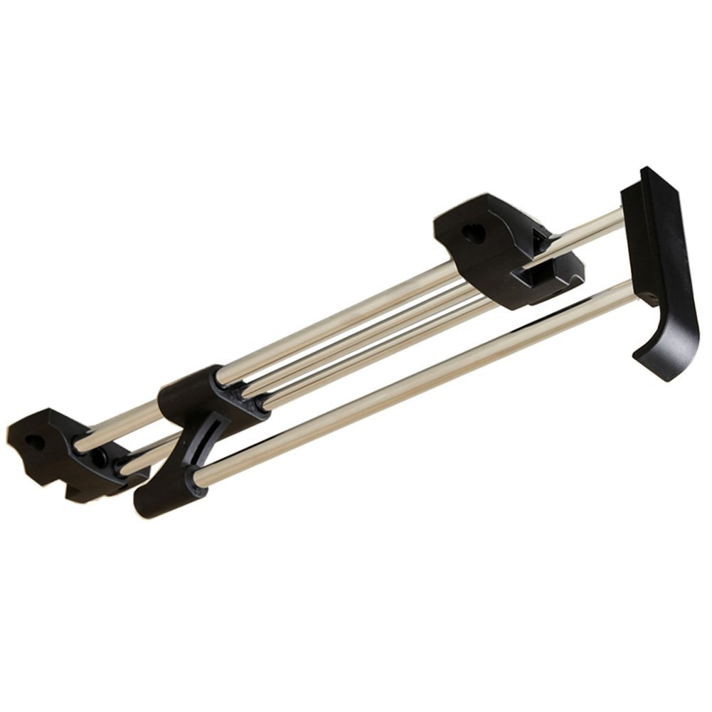 Heavy Duty Retractable Closet Pull Out Rod Wardrobe Clothes Hanger Rail  Towel Ideal For Closet Organizer