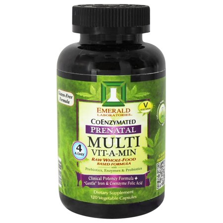 Emerald Base - Emerald Labs - Prenatal Multi Vit-A-Min Raw Whole-Food Based Formula - 120 Vegetarian Capsules
