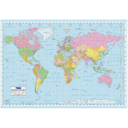 World map geography atlas educational earth political classroom world map geography atlas educational earth political classroom poster 36x24 inch gumiabroncs Choice Image