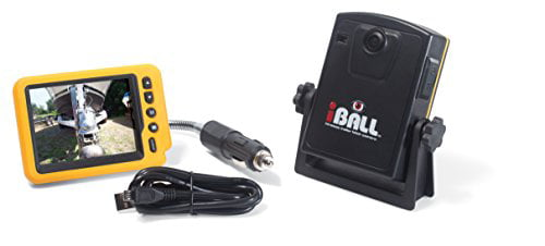 iBall 5.8GHz Wireless Magnetic Trailer Hitch Car Truck Rear View Camera LCD Monitor by Iball
