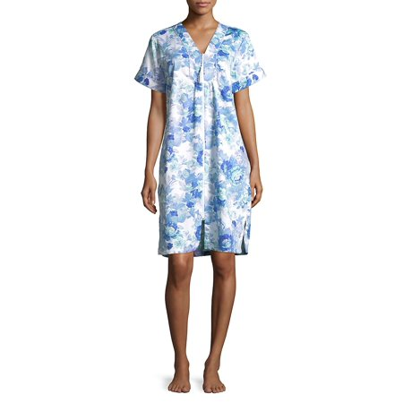 928fbd19bcf3 Miss Elaine - Floral Zip-Up Nightgown - Walmart.com