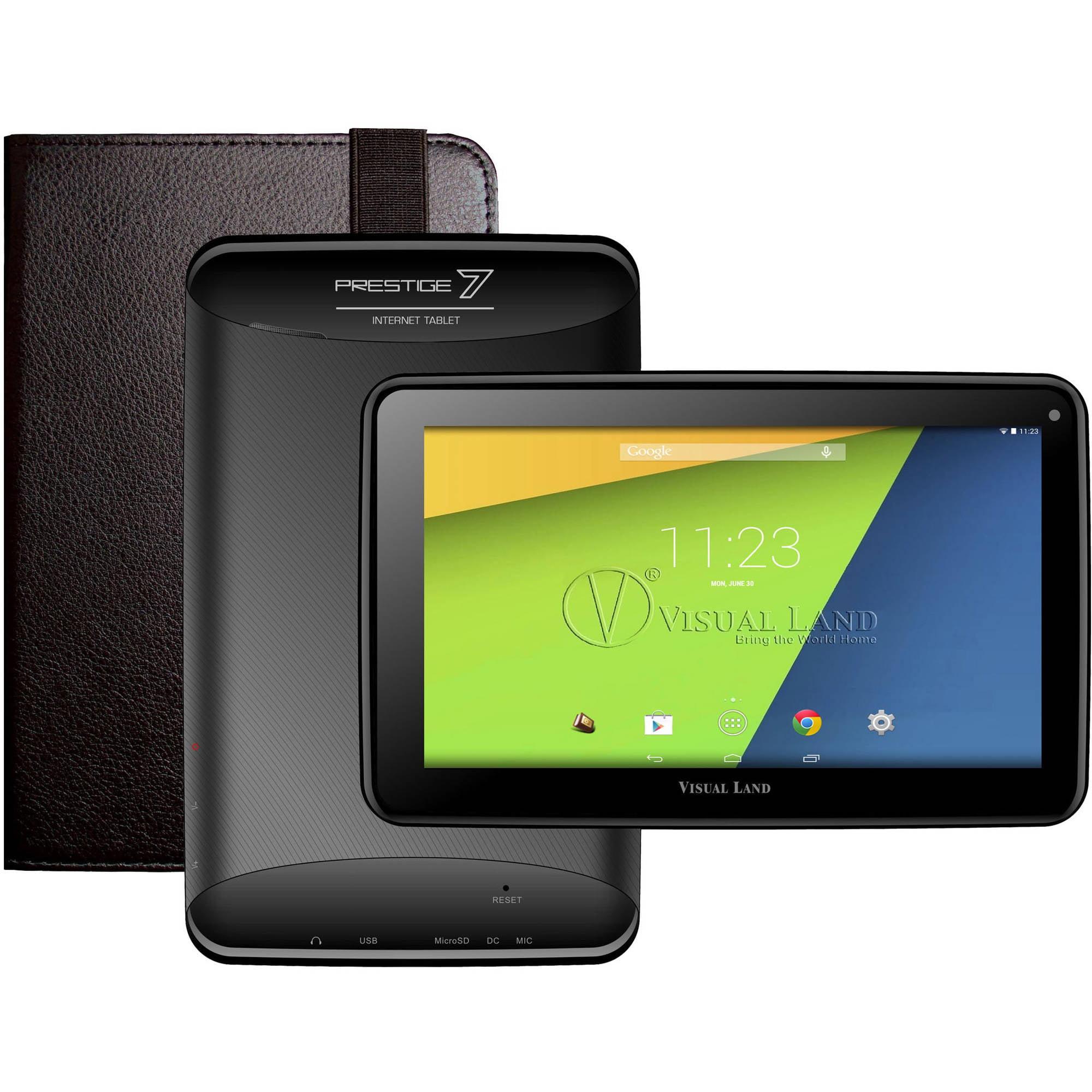 "Visual Land Prestige 7"" Tablet 8GB includes Tablet Case"