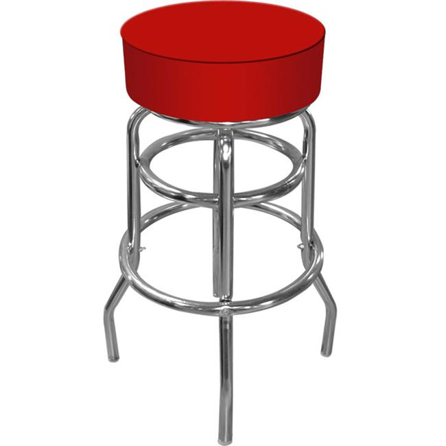 Trademark Commerce 1000-RED High Grade Bar Stool with 14. 75 Diameter Padded Seat