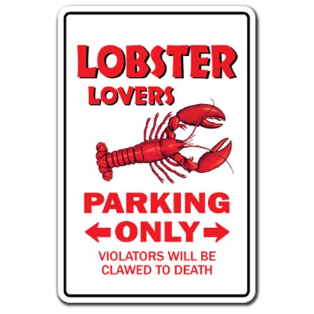 """LOBSTER LOVERS Parking Decal roll maine food lobsterman 