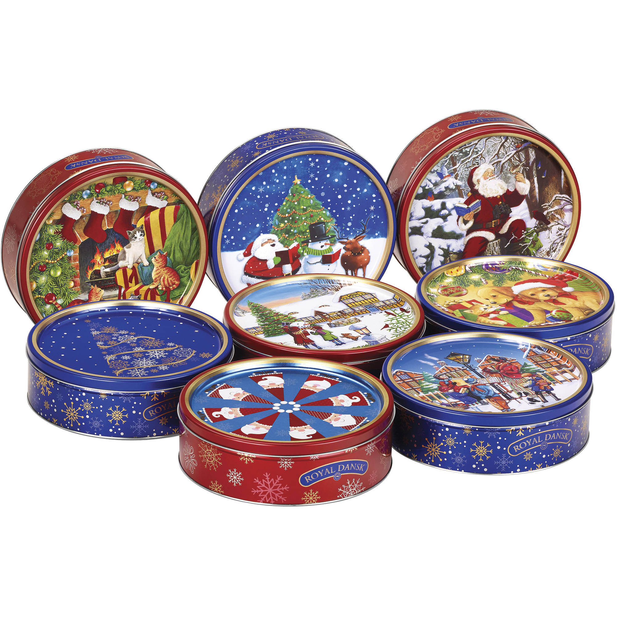 Royal Dansk Danish Butter Cookies Holiday Gift, 12 oz