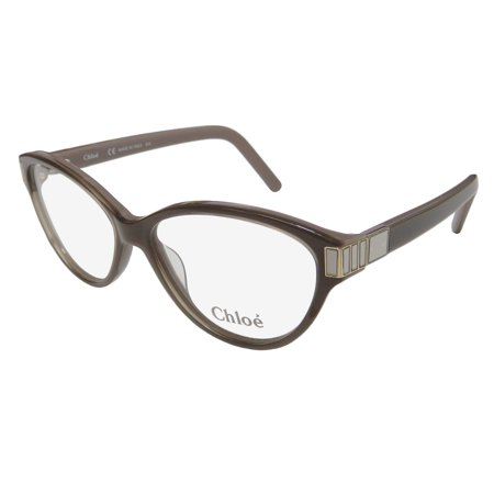 New Chloe 2654 Womens/Ladies Cat Eye Full-Rim Taupe Stunning Signature Logo Cat Eye Frame Demo Lenses 53-14-135 Eyeglasses/Eyewear Cat Eye Frame