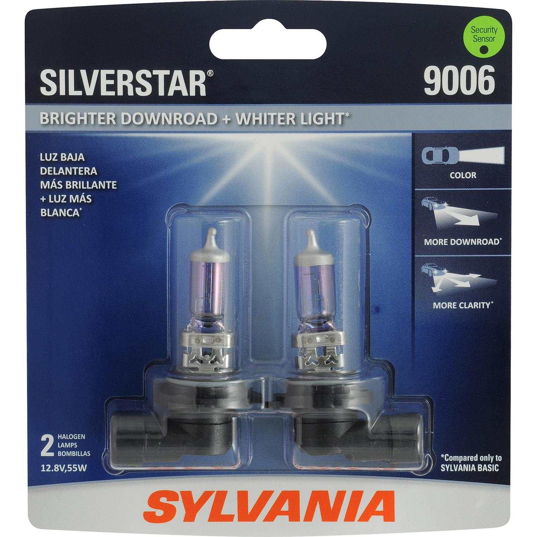 SYLVANIA 9006 SilverStar Headlight, Contains 2 Bulbs