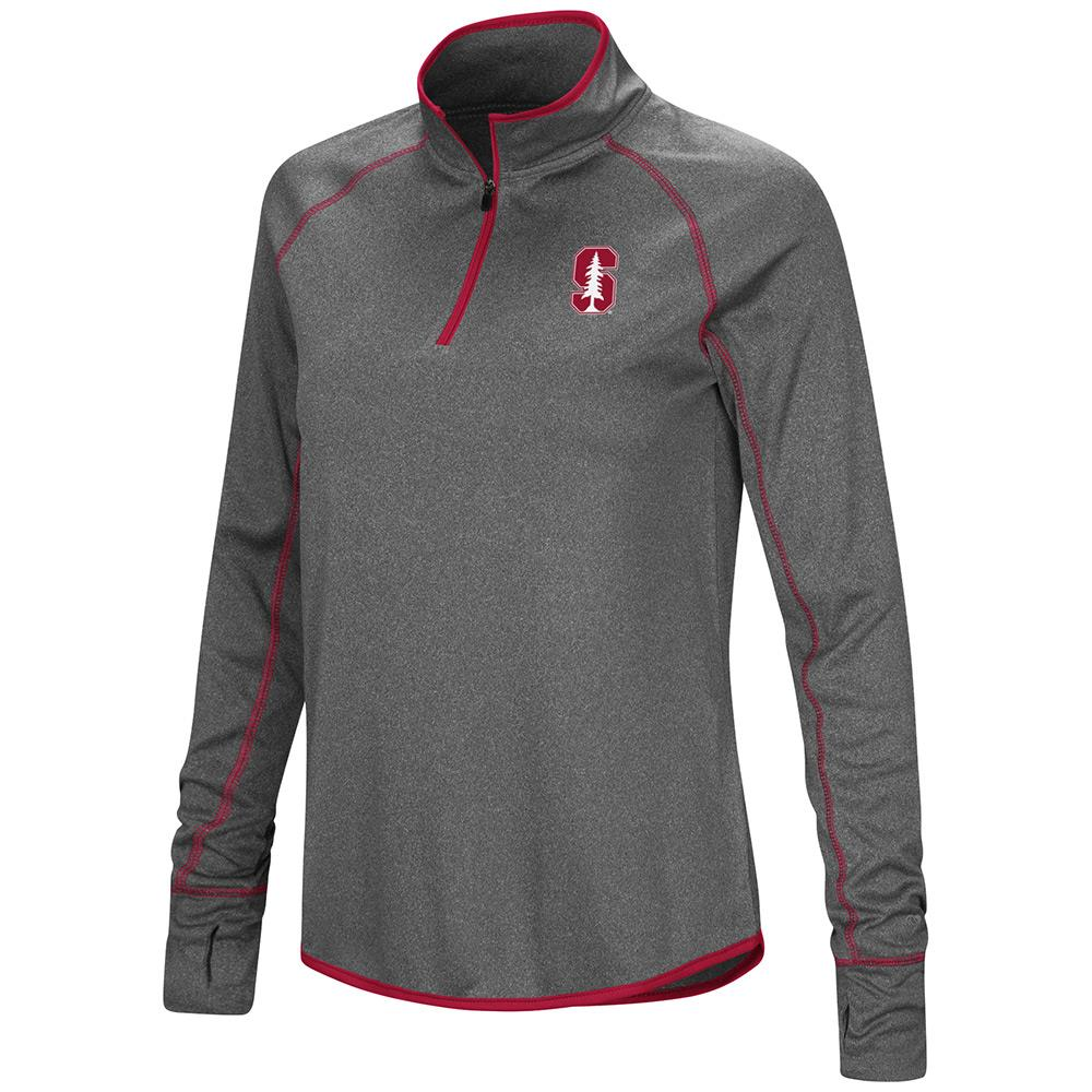 Womens Stanford Cardinal Quarter Zip Wind Shirt - S