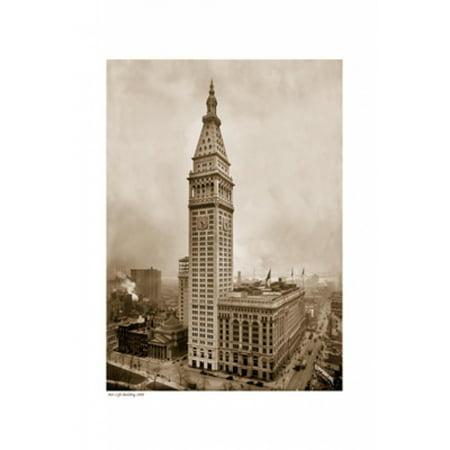 Metlife Building 1909 Sepia Poster Print  13 X 19