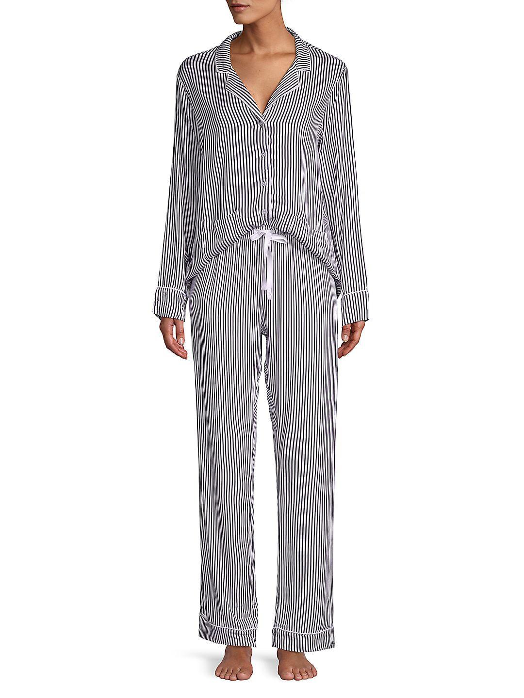 Notch Long Sleeve Pajamas