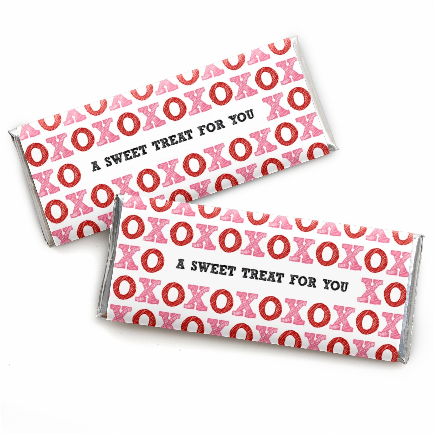 Valentine's Day - Candy Bar Wrappers Valentine's Day Party Favors - Set of 24