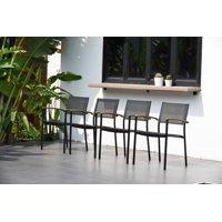 Amazonia Ulloa Teak Finish Patio Stacking Chairs, Set of 4