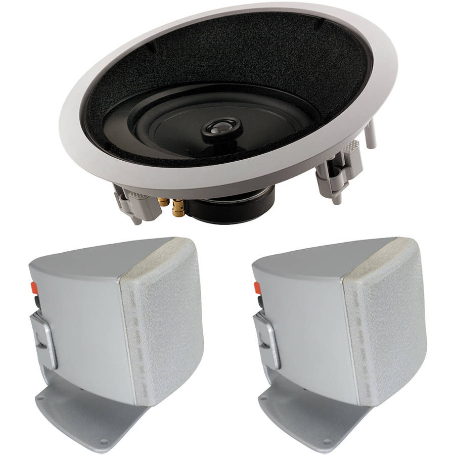 "ArchiTech LCRS 8"" 2-Way Angled In-Ceiling LCR Loudspeaker and Bonus Speakers"