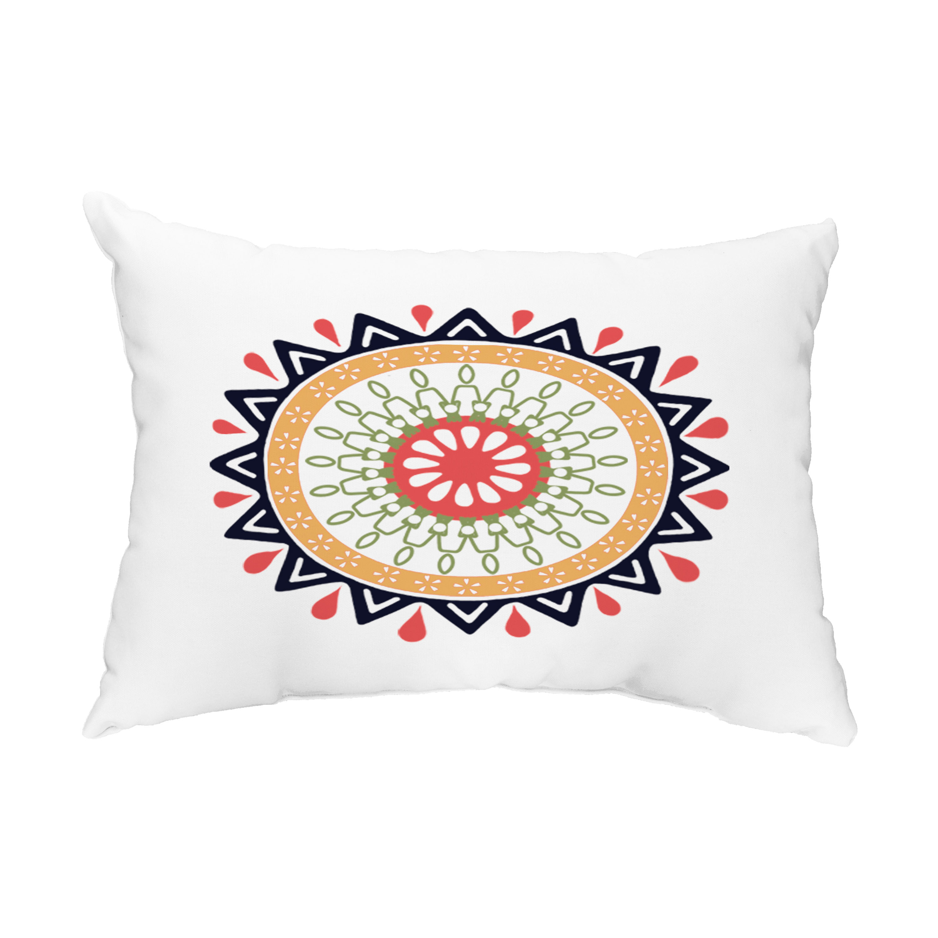 Mod 14x20 Inch Navy Blue Decorative Abstract Outdoor Throw Pillow