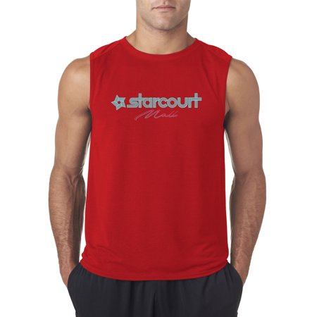 Trendy USA 1311 - Men's Sleeveless Starcourt Mall Stranger TV Movie Pop Culture XL Red (Marketplace Mall)