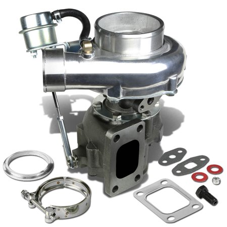 T04E T3/T4 4-Bolt Manifold Flange Stage III Polished Anti-Surge Turbocharger with Internal Wastegate Turbine A/R