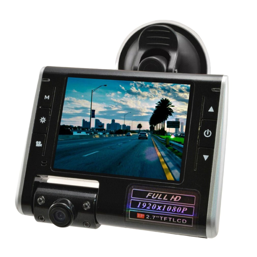 1080P Swing Lens Full HD Dash Cam Video Recorder Car Camera Vehicle DVR LCD
