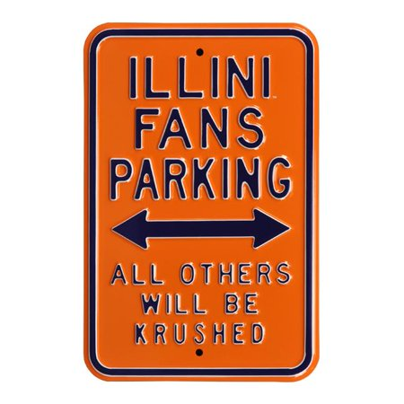 Authentic Street Signs 71041 Illini & Fans & All Others & Krushed Street Sign - image 1 de 1
