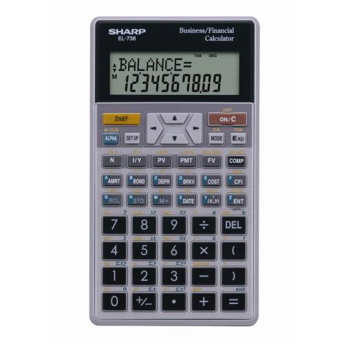 Sharp 10-Digit Financial Calculator EL738