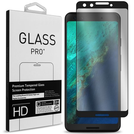 CoverON Google Pixel 3 Tempered Glass Screen Protector - InvisiGuard Series Full Coverage 9H with Faceplate (Case Friendly)