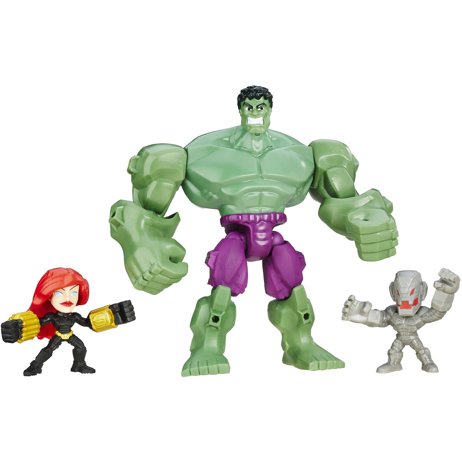 Marvel Super Hero Mashers Hulk Smash Force Figure Set