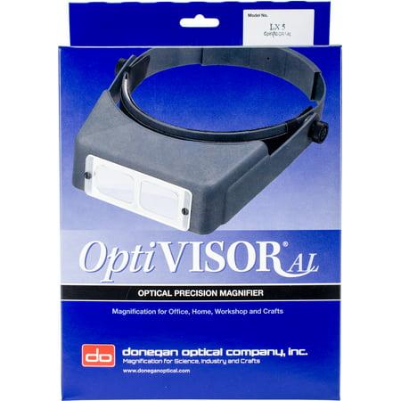 "Donegan OptiVISOR LX Binocular Magnifier-Lensplate #5 Magnifies 2.5x At 8"""