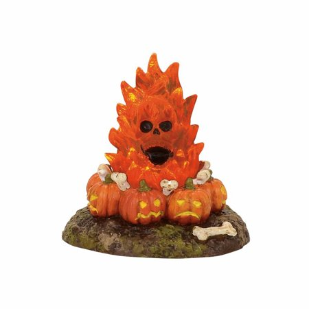 Dept 56 Halloween Village 4057628 Flaming Skull Bonefire 2017 - Halloween Nyc 2017 Photos
