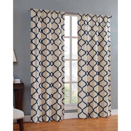 Mainstays Canvas Iron Work Curtain Panel