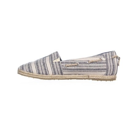 Nautica Rudder Slip-On Espadrille Flats, Navy Triple Stripe - image 5 de 6