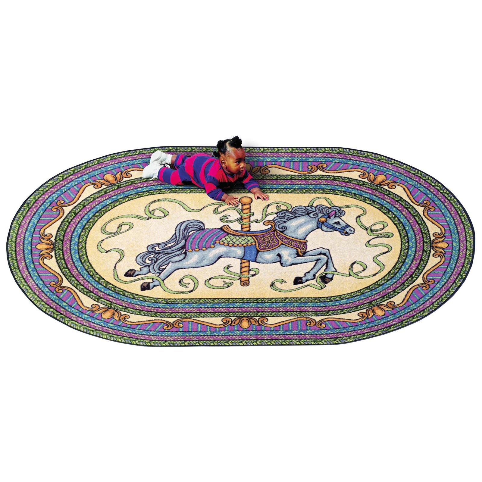 Joy Carpets Carousel Pink Area Rug