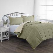 Noble Linens Premium Down Alternative Reversible 3-Piece Comforter Set