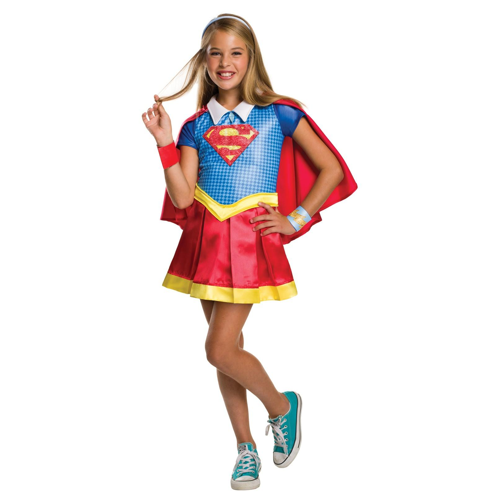 DC Superhero Girls Supergirl Deluxe Child Costume M  sc 1 st  Walmart & Supergirl Costumes