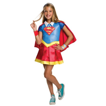 DC Superhero Girls: Supergirl Deluxe Child Costume S](Girls Super Girl Costume)