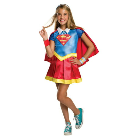 DC Superhero Girls: Supergirl Deluxe Child Costume M - Supergirl Costume Girls