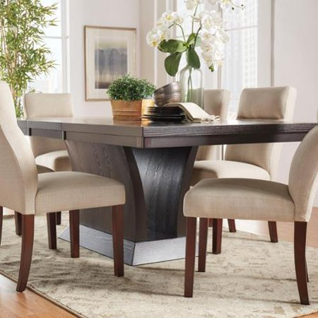 TRIBECCA HOME Charles Espresso Contemporary Extending Dining Set 5-piece Dining Set