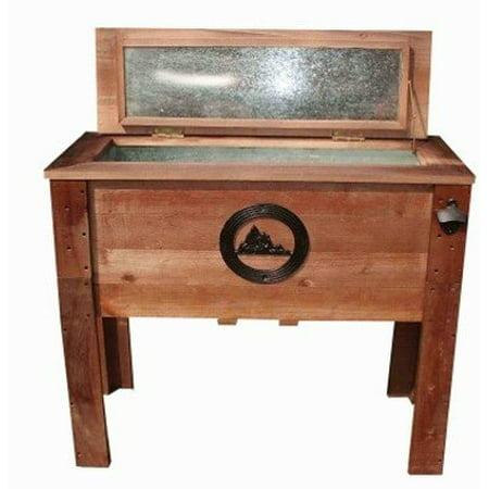 45 Quart Wooden Outdoor Rustic Mountain Deck Patio Cooler ()