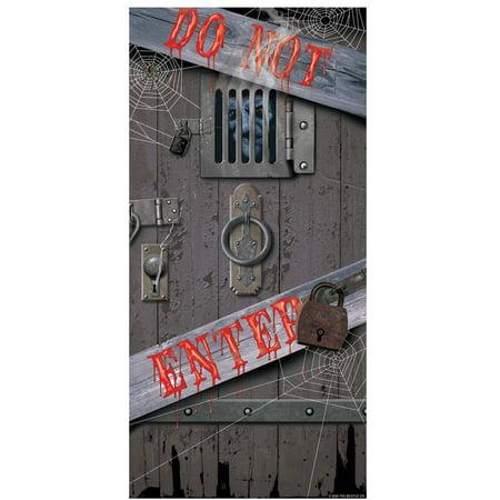 Spooky Homemade Halloween Decorations (Spooky Halloween Door Cover Halloween)