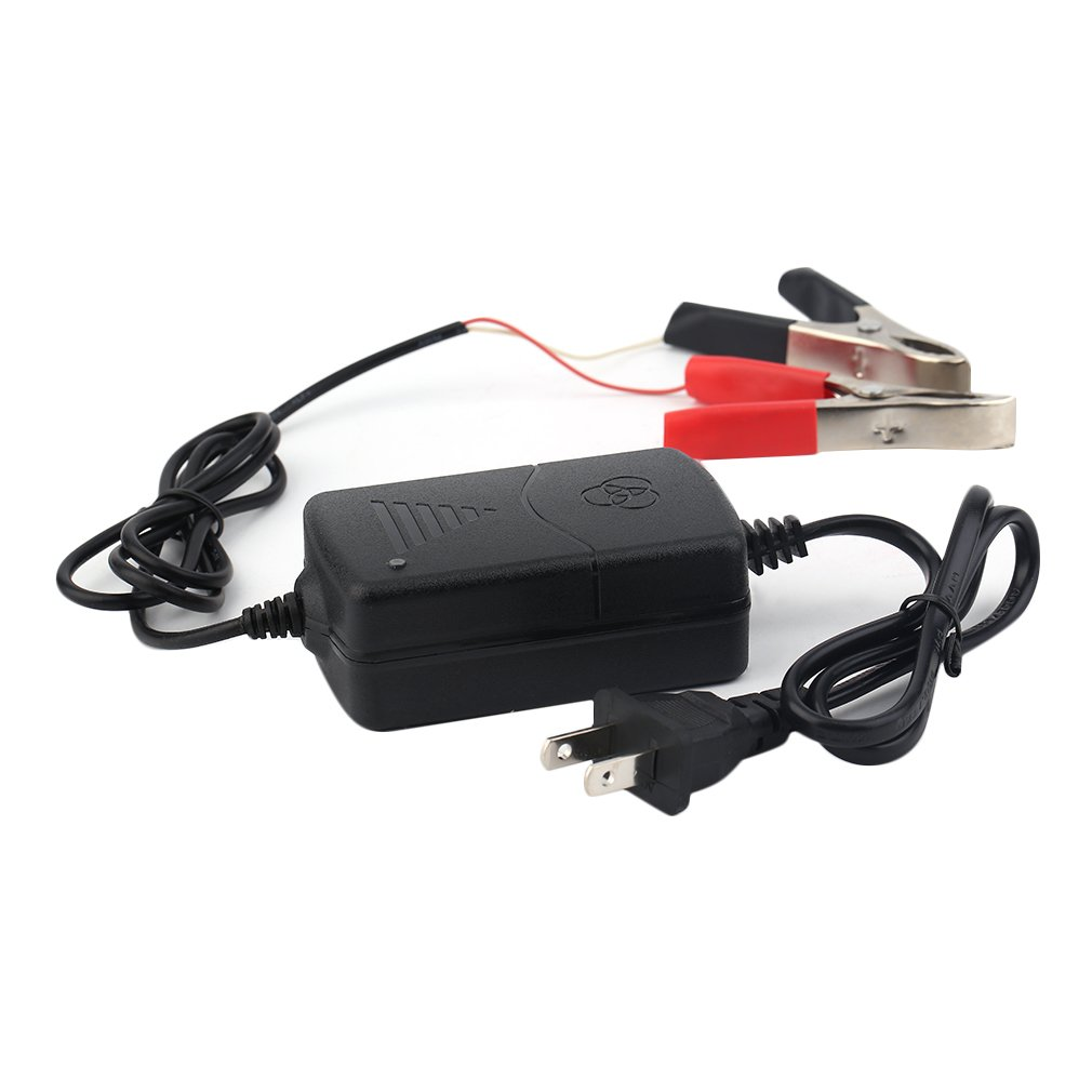 Car ATV 12V//1A Portable Multi-mode Battery Supply Charger Tender Black 15W