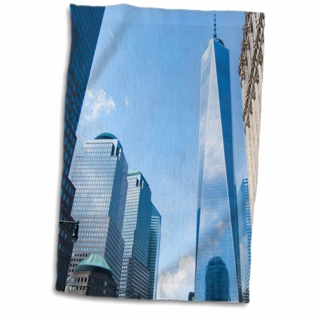 3dRose New York City, new World Trade Center building in downtown Manhattan - Towel, 15 by 22-inch