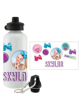 7a9226e431 Product Image Personalized Water Bottle - JoJo Siwa Buttons