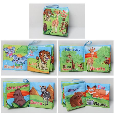 1pc Baby Early Learning Soft Cloth Books Creative Squeak Crinkle Book Puzzle Toys Gifts for Kids Style:vegetables - image 6 of 6