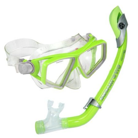 Lanai Paradise Snorkel Set, Junior, Green