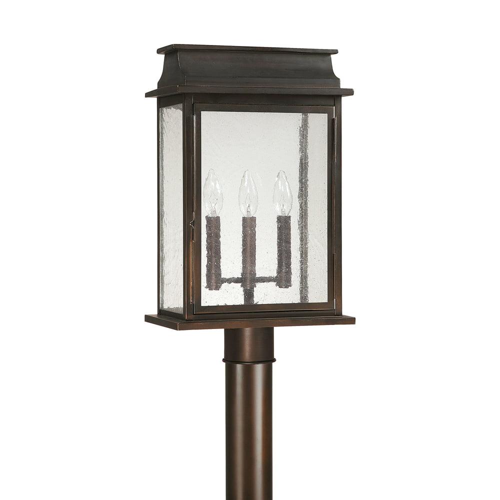 Capital Lighting Bolton Old Bronze 3 Light Post Lantern by Overstock