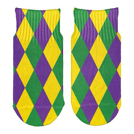 Mardi Gras Jester Costume All Over Toddler Ankle Socks](Mardi Gras Socks)