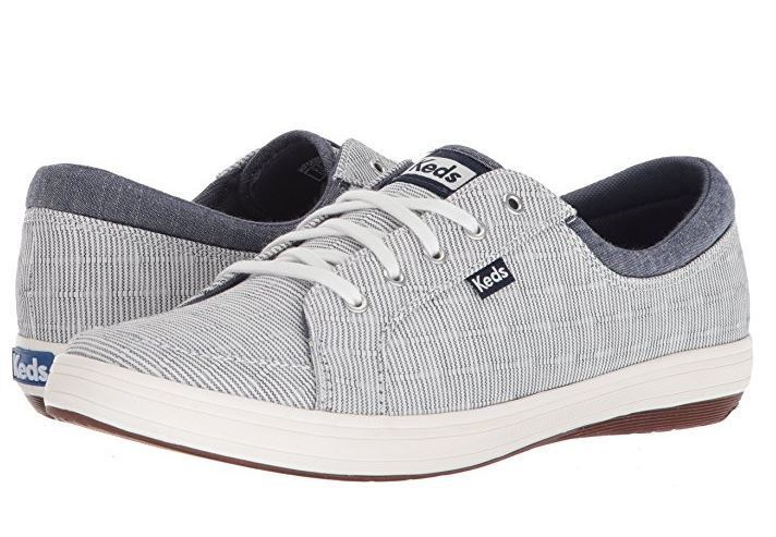 Keds Ladies' WF58207 Vollie II Railroad Sneakers- STRIPED BLUE by KEDS
