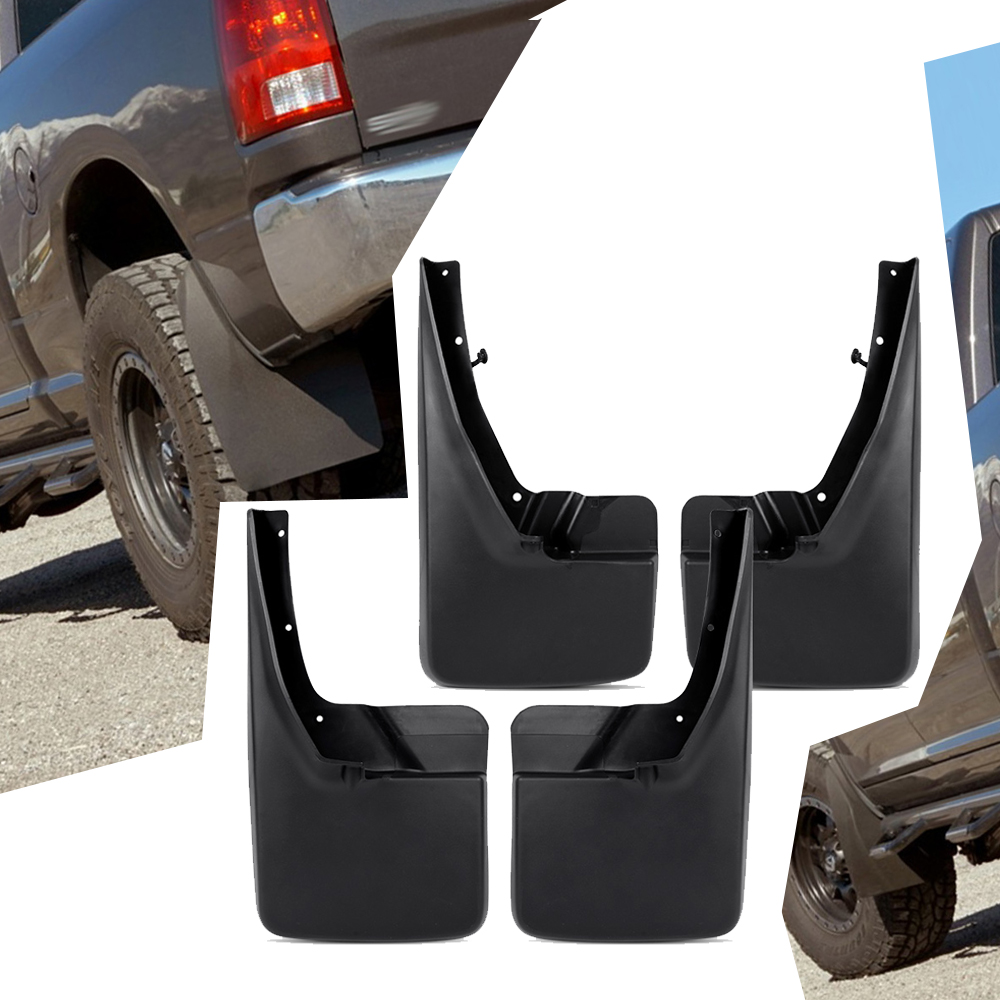 Fits 09-16 Dodge Ram PP Mud Flaps Mud Guards Splash Guards 4pcs Sets