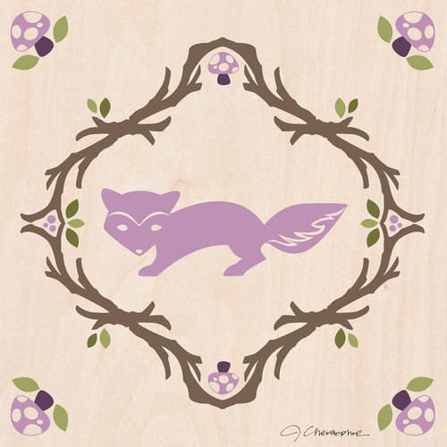 Oopsy Daisy - Canvas Wall Art Enchanted Forest Fox 10x10 By Jen Christopher