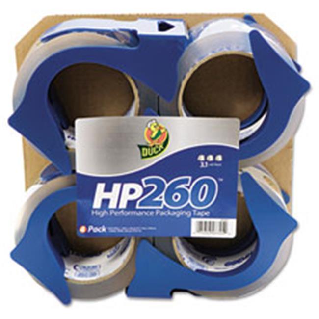 Henkel 0007725 HP260 Packaging Tape with Dispenser, 1.88 in. x 60 yard, 3 in. Core, 4 Per Pack