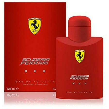 Scuderia Red Eau De Toilette Spray for Men 4.20 oz (Ferrari In Red)